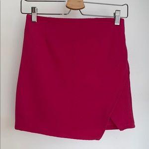 MAGENTA RIBBED PINK F21 skirt NWT